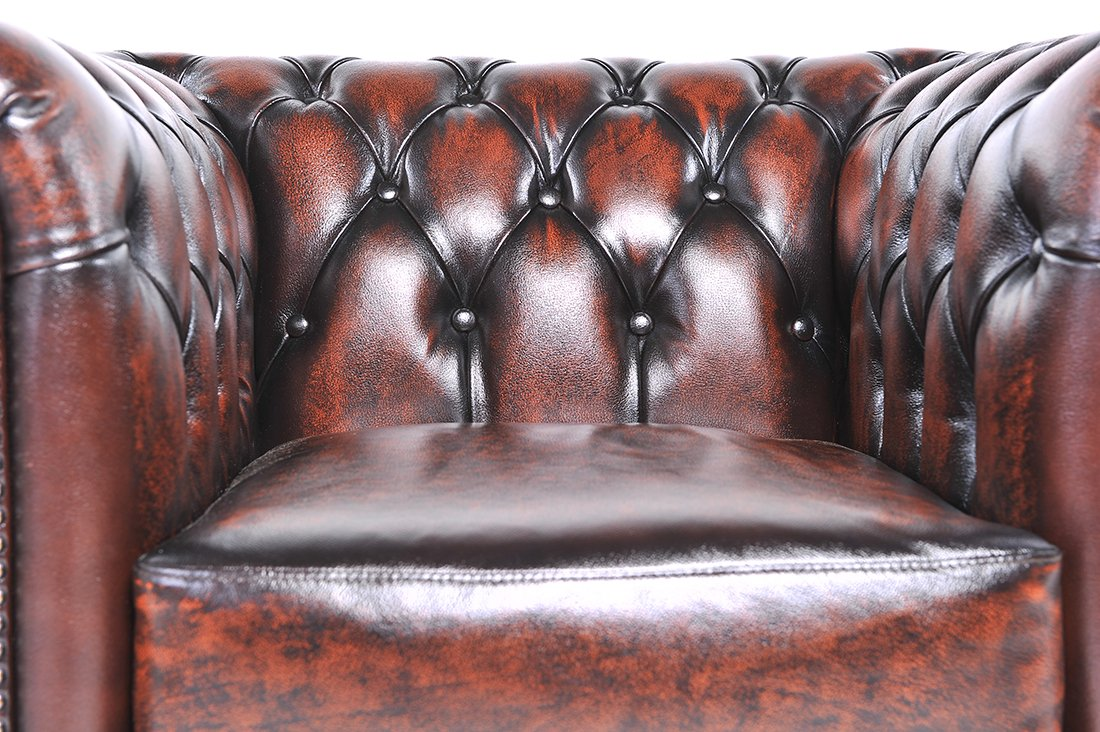 The Chesterfield Brand- Conjunto Sofás Chester Marrón ...