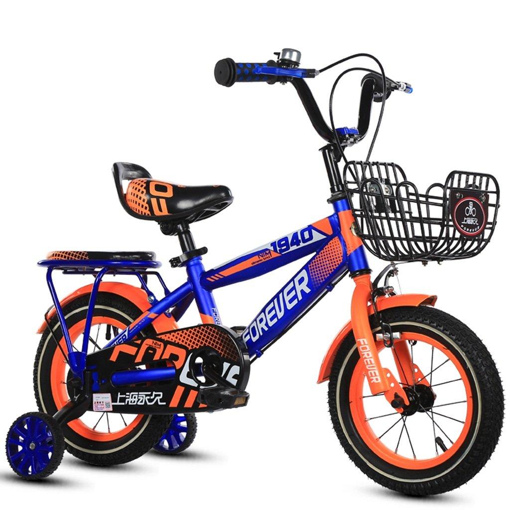 CSQ バスケット自転車、男の子、女の子自転車自転車小児パーソナル自転車2-11歳の赤ちゃん補助ホイール自転車88-121CM 子供用自転車 (色 : 青, サイズ さいず : 88CM) B07DXC1TPR 88CM|青 青 88CM