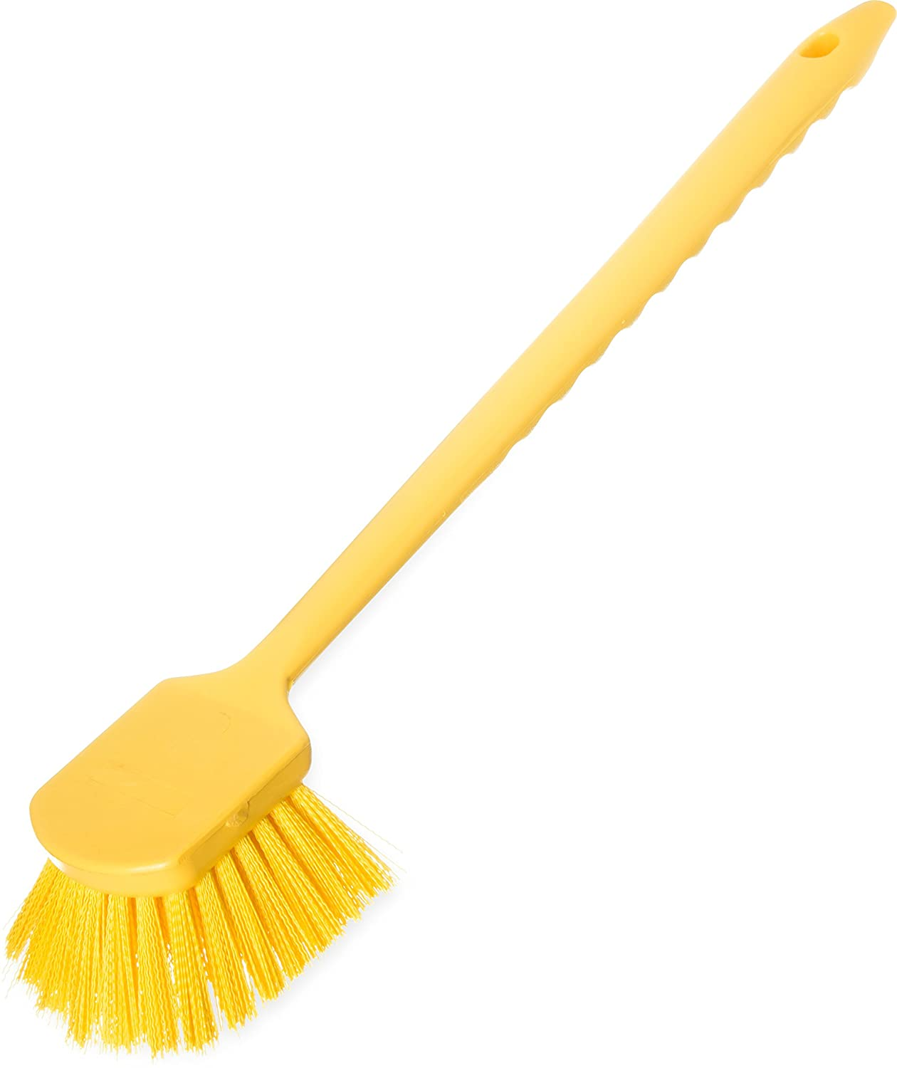 Carlisle 40501C04 Commercial Utility Scrub Brush Polyester Bristles 20 x 3 Yellow Pack of 6