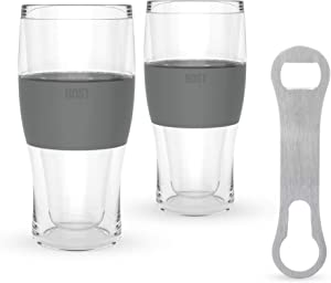 Host Beer Lovers Set, Set of Two Host Freezer Mugs and Bottle Opener