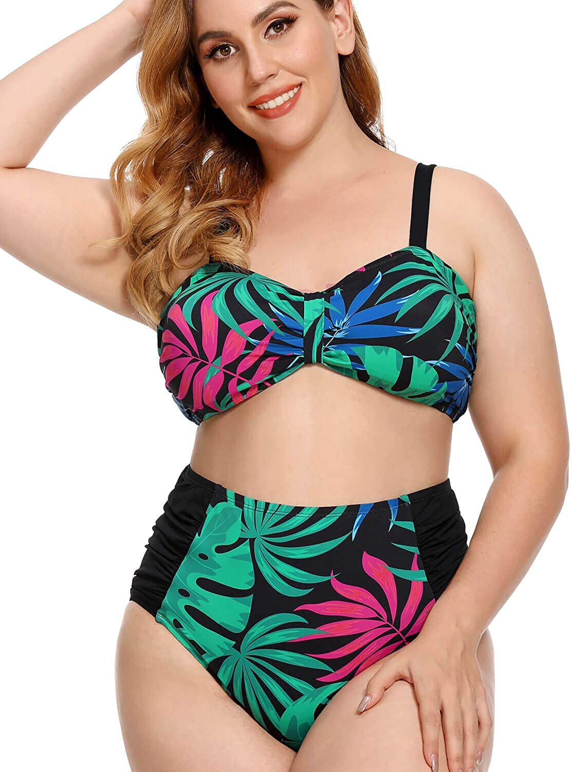 AS ROSE RICH Plus Size Swimsuits for Women Tummy Control Swimsuits for Women