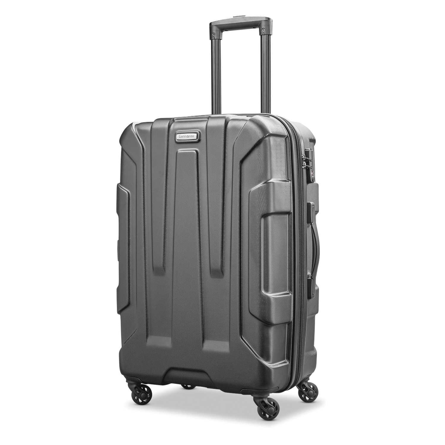 Samsonite Centric Expandable Hardside Checked Luggage with Spinner Wheels, 24 Inch, Black