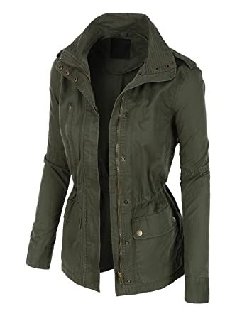 RubyK Womens Utility Military Anorak Jacket with Pockets at Amazon ...