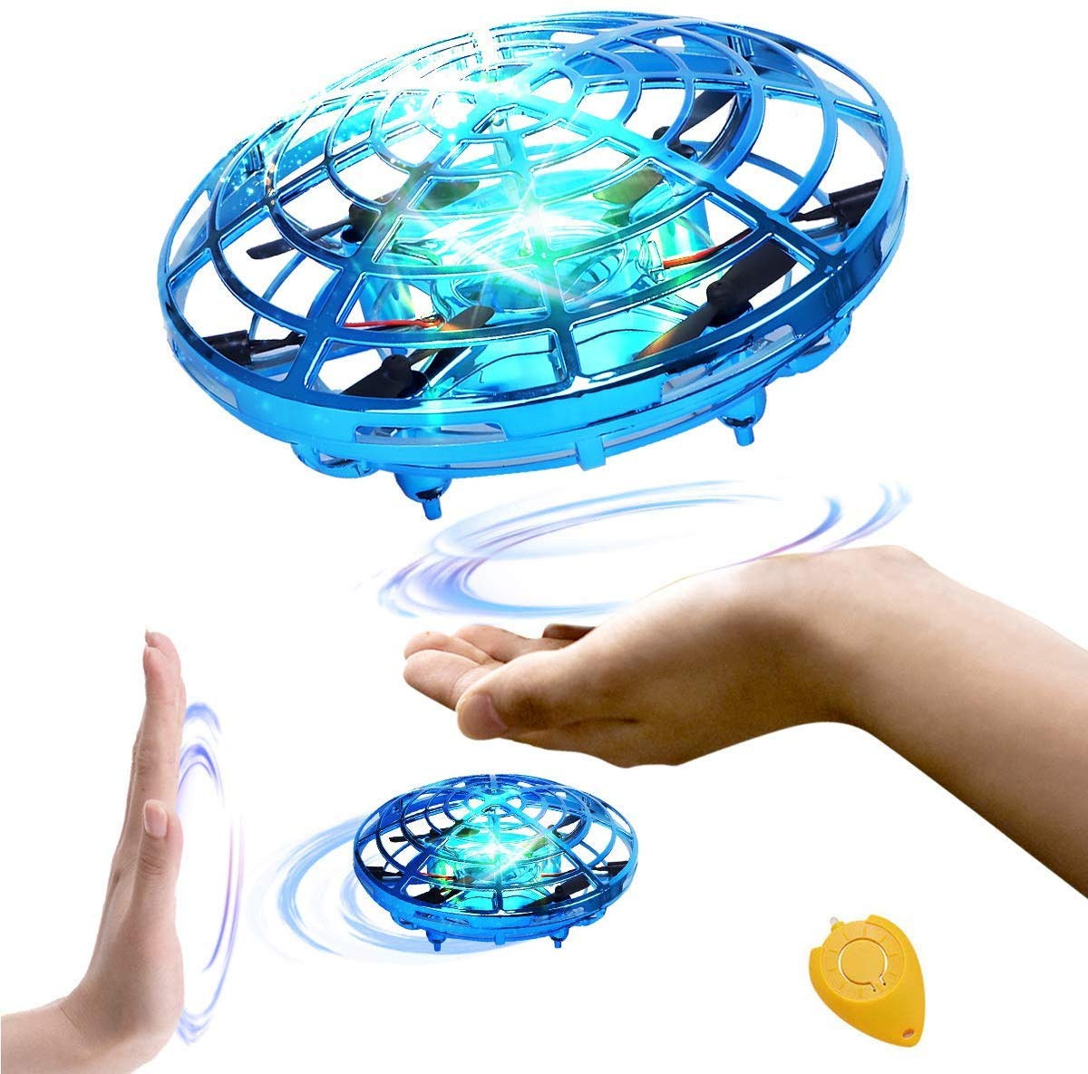 98K Hand Operated Drones for Kids or Adults, Light Up Joy Flying Ball Drone, Helicopter Mini Drone, Easy Indoor Small Flying Toys for Boys or Girls by 98K