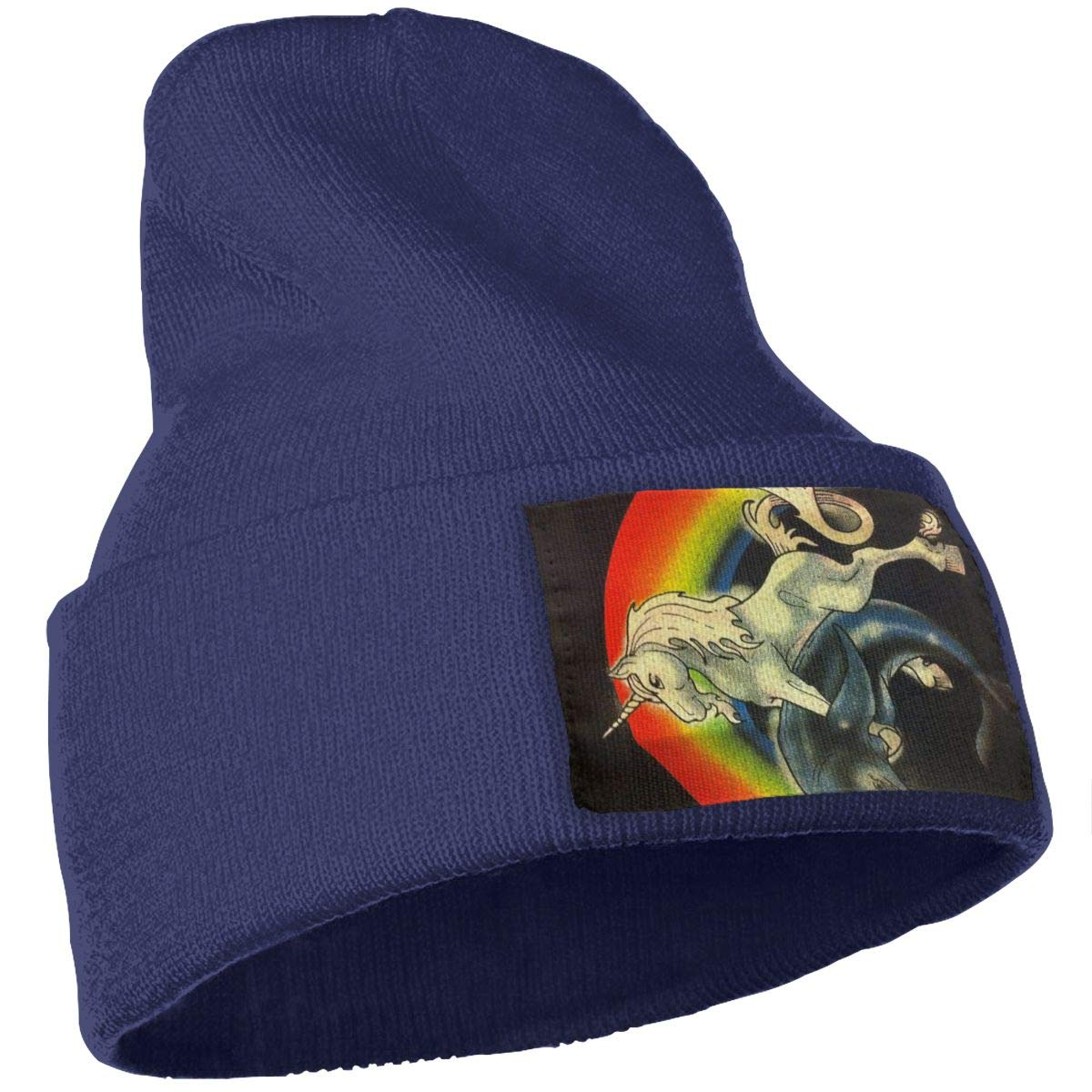 Unicorn Pounding Dolphin Unisex Winter Knitting Woolen Hat Warm Cap