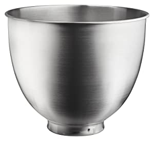 KitchenAid KSM35SSB 3.5-Qt. Brushed Bowl-Stainless Steel, Quart, Metallic