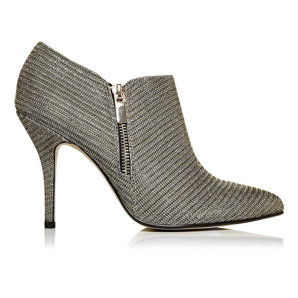 Moda in Pelle kromptal Damen Elegante Absatz Schuh Stiefel – Gold