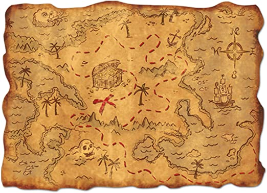 Beistle Plastic Treasure Map Party Accessory (1 Count) (1/Pkg ...