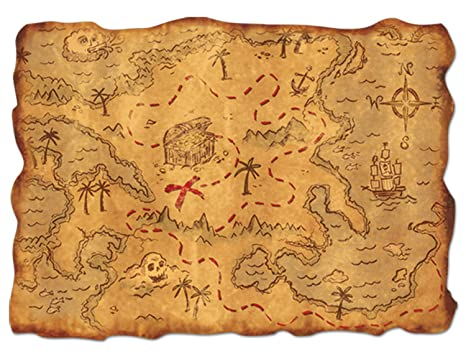 Carte Au Tresor Vide.Plastic Treasure Map Party Accessory 1 Count 1 Pkg