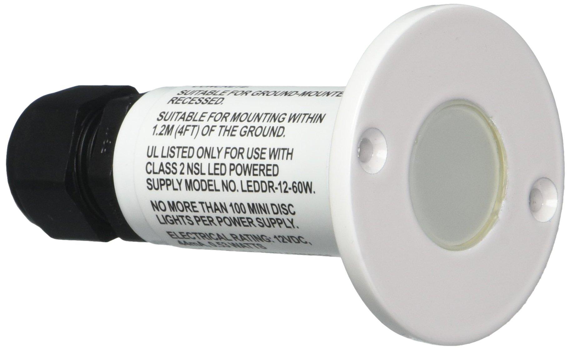 National Specialty LEDMD-BL-WH MiniDisc Step Light