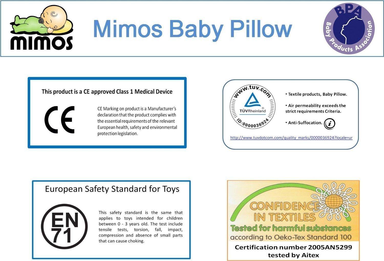 Cojín Mimos® - Prevención y corrección de deformidades craneales posicionales en bebés. (XS)