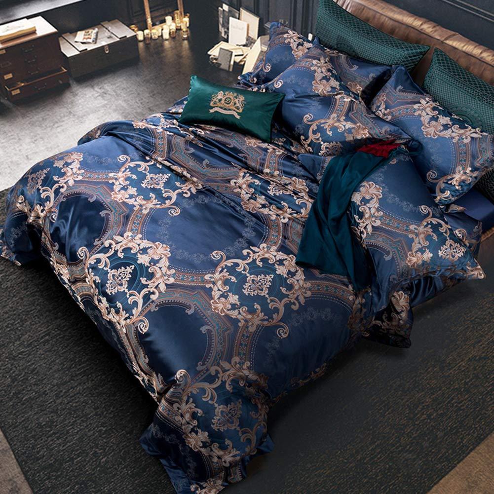本文 クイーンサイズ キルト 寝具 Se, ジャカード パターン 10 ピース 寝具カバーセット 掛け布団 ウルトラソフト 3 ファブリック 側面 絹のような ソフト ベッドスカート-a B07T17M5L5