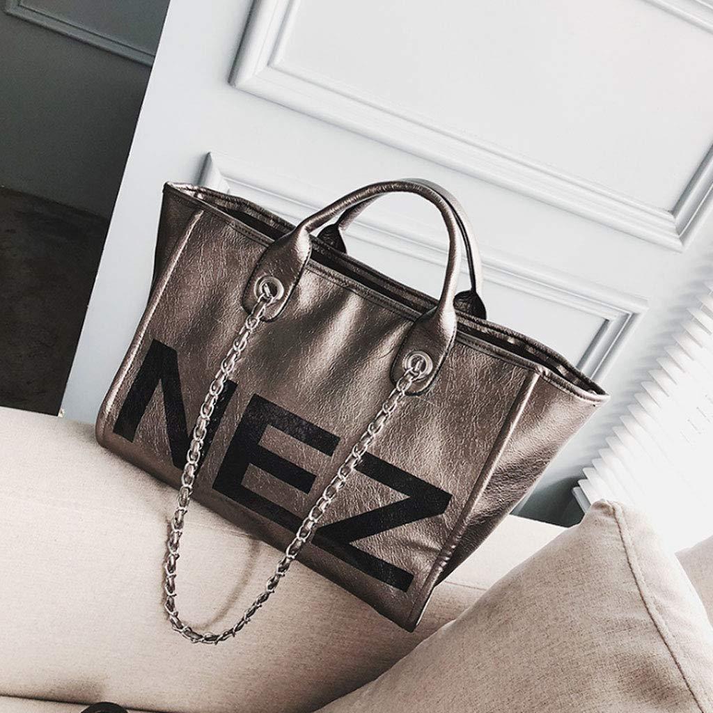 Damentasche Handtasche Großraum Großraum Großraum Brief Schulter Umhängetasche 4 Farben (37  27  18 cm) (Farbe   braun) B07GW4XHML Schultertaschen Komfortabel und natürlich 529761