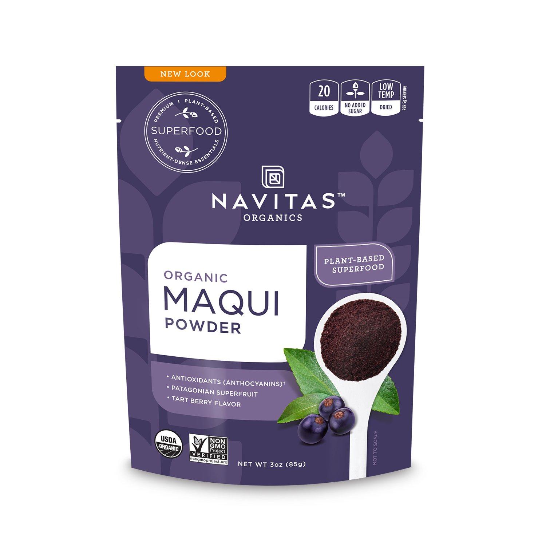 Navitas Organics Maqui Powder, 3 oz. Bag — Organic, Non-GMO, Freeze-Dried, Gluten-Free