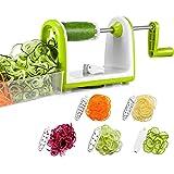 Bonsenkitchen Spiralizzatore Affettatrice per Verdure a Spirale, affettatrice a Spirale a 5 Lame per Pasta Spaghetti Vegetariani, Insalata con Contenitore per Alimenti (VS8831)