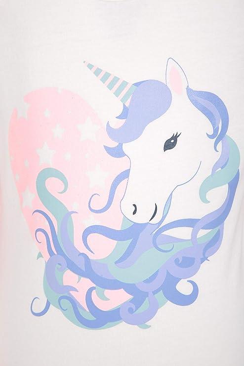 per Bambini Camminate Leggera Mountain Warehouse Maglietta Glitterata in Cotone al 100/% con Unicorno Traspirante per Escursioni Viaggi Protezione dai Raggi UV