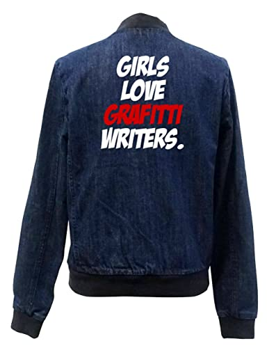 Girls Love Grafitti Writers Bomber Chaqueta Girls Jeans Certified Freak