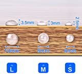 Cabinet Door Bumpers, Clear Adhesive Rubber