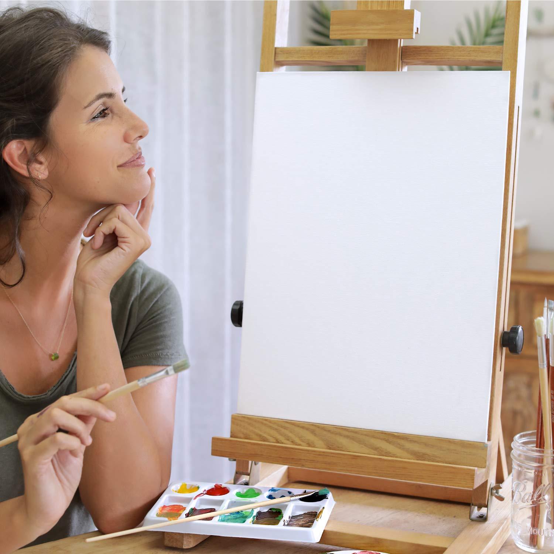 Toiles /à Peindre 20x20cm Gouache Huile Peinture Acrylique Set de 10 Canvas Aquarelle 100/% Coton sans Acide Zenacolor Peintures sur Toiles