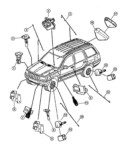 Amazon Com Mopar 56041317ac Front Abs Wheel Sensor Automotive