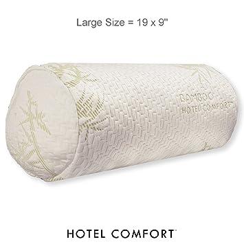 Amazon.com: Hotel Comfort Bolster almohada de bambú: Home ...