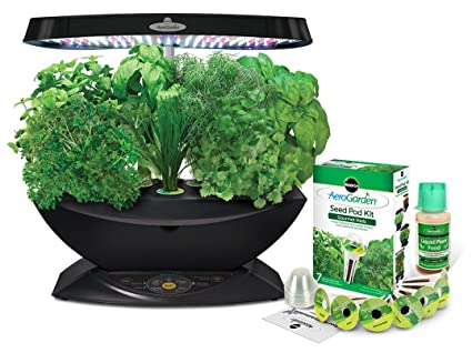 Amazon aerogarden 7 led indoor garden with gourmet herb seed aerogarden 7 led indoor garden with gourmet herb seed kit workwithnaturefo