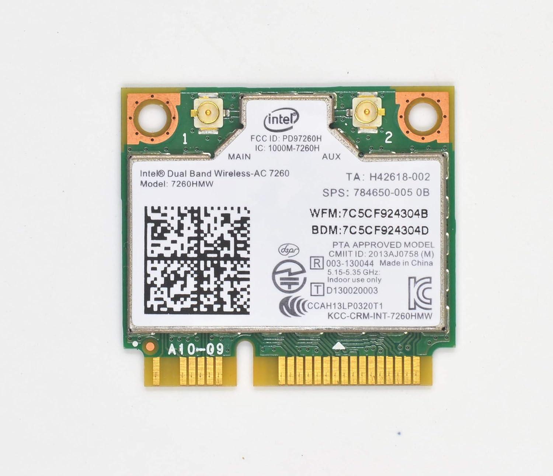 Intel 7260.HMWG.R Dual Band Wireless-AC 7260 Network adapter PCI Express Half Mini Card 802.11 b//a//g//n//ac