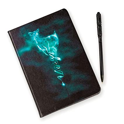 HARRY POTTER Always Patronus Journal with Severous Snape Wand Pen - 96 Blank Pages with Bookmark - 8.5