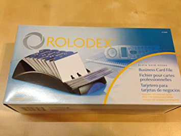 Rolodex open tray business card file 100 sleeves black amazon rolodex open tray business card file 100 sleeves black reheart Image collections
