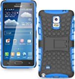 ImagineDesign™ Defender Tough Hybrid Armour Shockproof Hard PC + TPU with Kick Stand Rugged Back Case Cover for SAMSUNG GALAXY NOTE 4 - Blue
