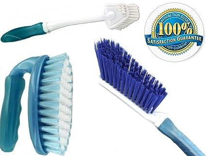 scrub brush set 3 piece household cleaning supplies stiff bristle brushescarpet kitchen - Bathroom Cleaning Supplies