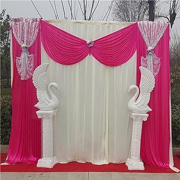 Amazoncom 10X10ft Silk Fabric Swag CurtainChristmasBirthday