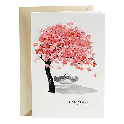Hallmark Signature Love Card Time Flies Romantic Anniversary Birthday Mothers Day