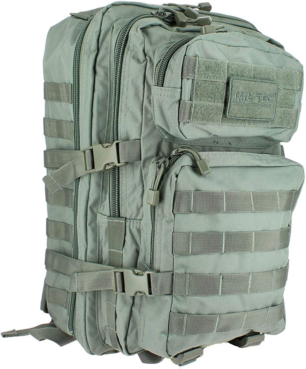 Mil-Tec Military Molle Assault Tactical Backpack 36L Foliage Green