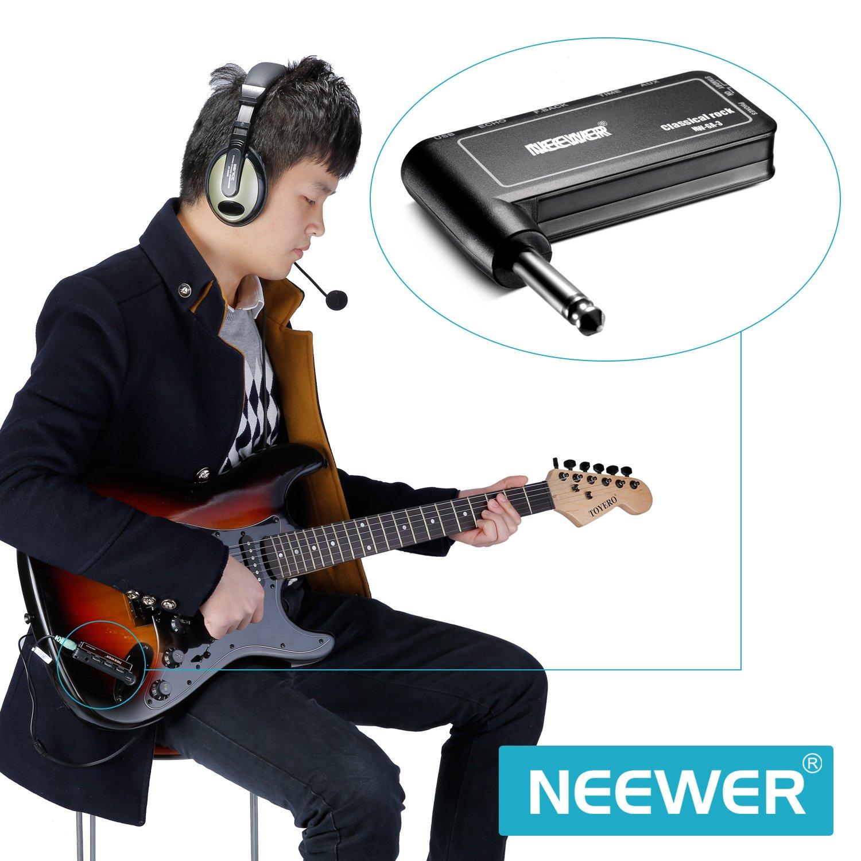Neewer® Guitarra Plug Amp Rock clásico de la guitarra eléctrica recargable efecto amplificador de auriculares, portátil y compacto, NW-GA-3