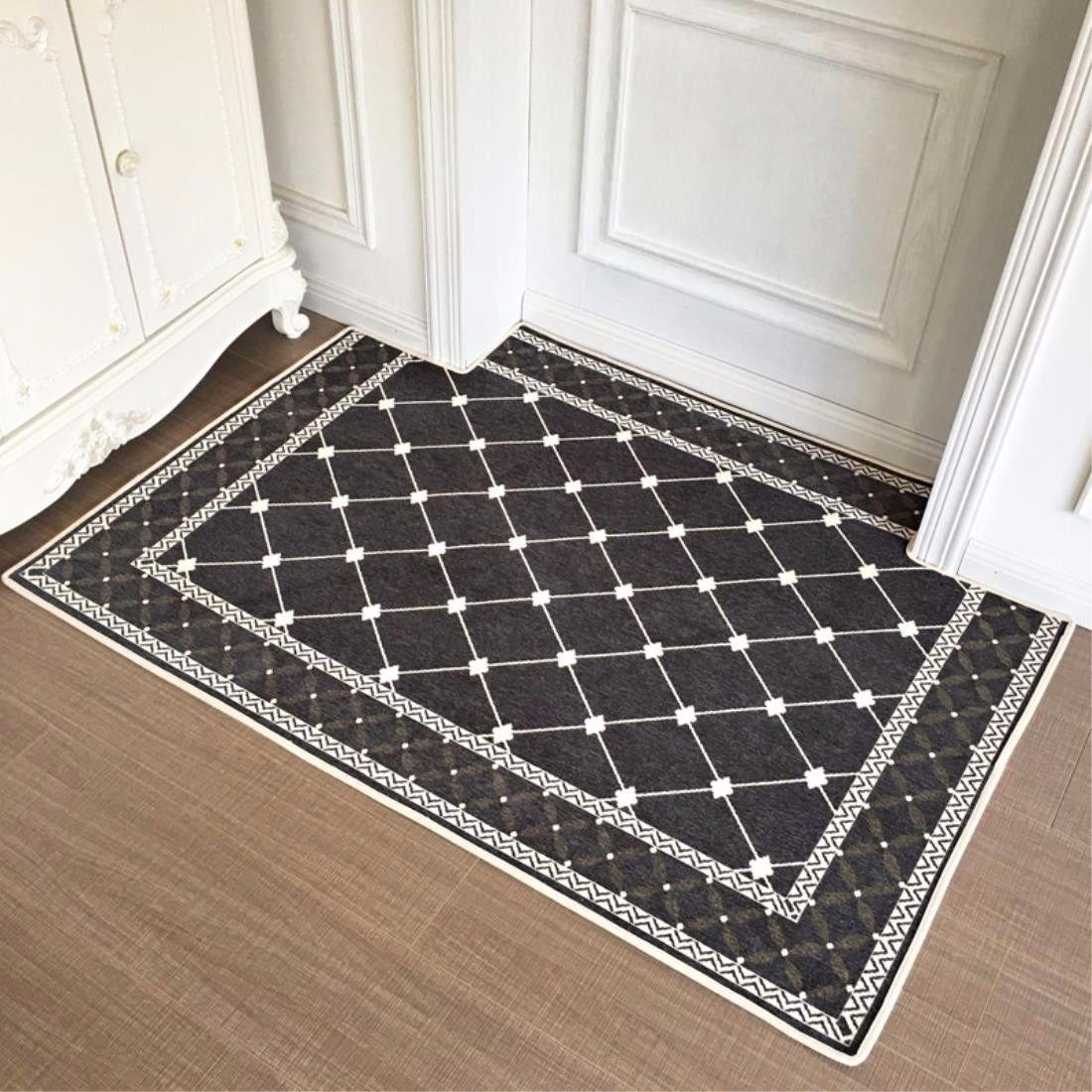 LIUXINDA-DT Household modern carpet, doorway carpet, lobby carpet, living room carpet, bedroom carpet, antiskid carpet,5080CM (19.631.4) in,gray