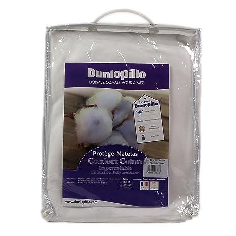 Dunlopillo PLBATH090190DPO colchón Protector Blanca 90 x 190 cm