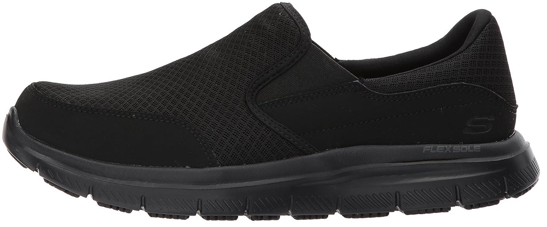 49cc5402a Skechers Men's Black Flex Advantage Slip Resistant Mcallen Slip On - 9 3E -  Extra Wide: Amazon.co.uk: Shoes & Bags