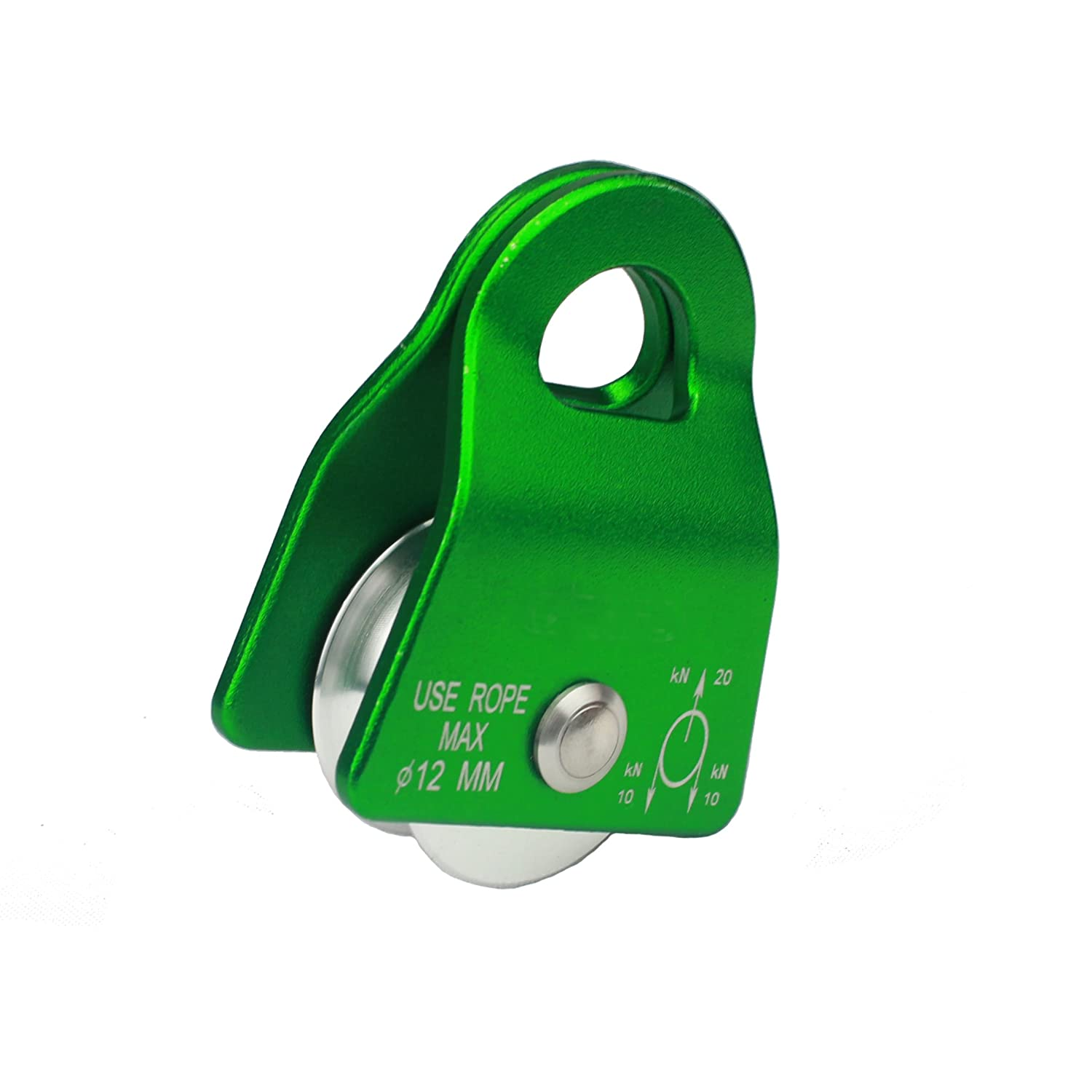 Geelife 20KN Climbing Micro Pulley General Purpose Aluminum Rope Pulley for Rescue//Aloft Work//Rappelling Etc.