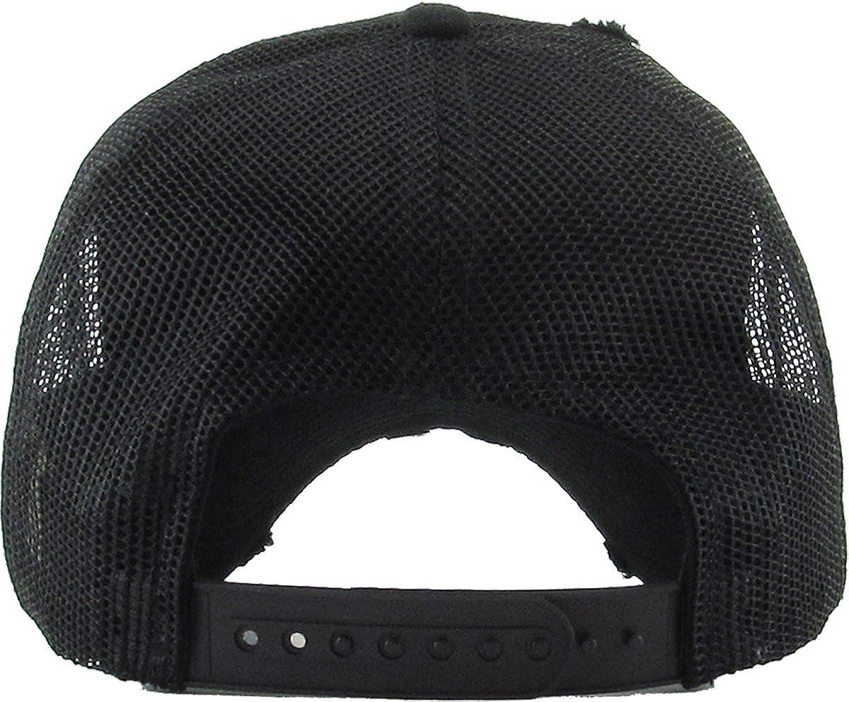 Amazon.com  KBETHOS Vintage Washed Distressed Cotton Dad Hat Baseball Cap  Adjustable Polo Trucker Unisex Style Headwear (Vintage Mesh) Black  Adjustable  ... b7a3659290b8