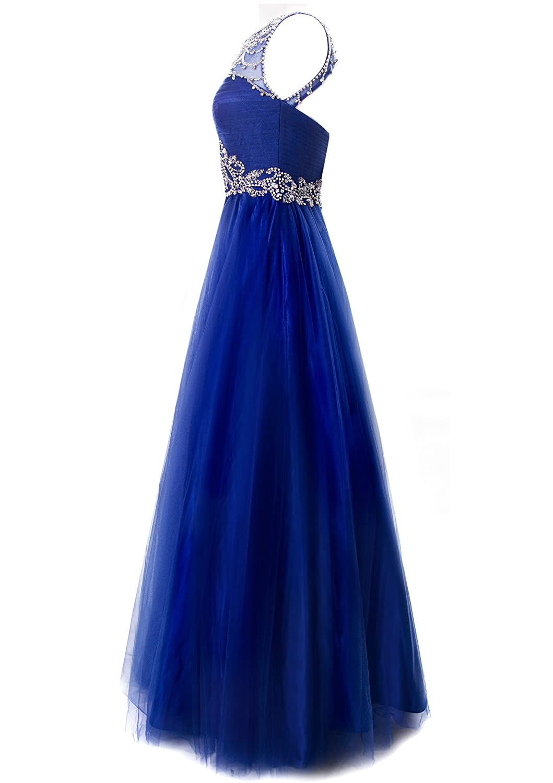 Amazon.com: Fiesta Formals Princess Ball Gown Prom Dress Illusion ...