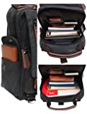 Mygreen Retro 13-Inch Canvas Backpack Crossbody