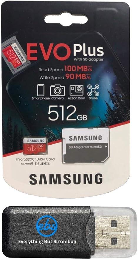 Samsung 512 Gb Micro Sdxc Evo Plus Bundle Class 10 Computer Zubehör