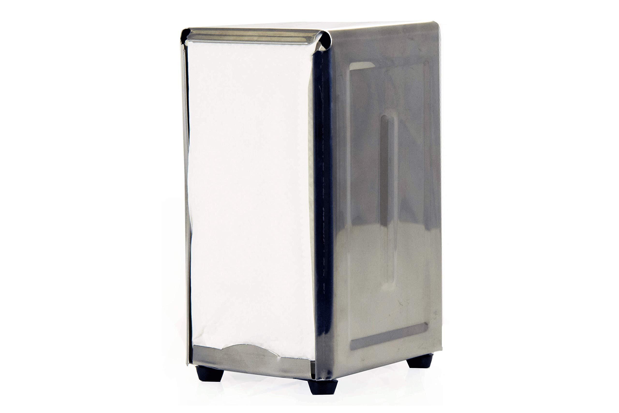 BonBon Stainless Steel Tall Fold Napkin Dispenser Retro 50s Napkin Vintage Holder Dispenser 1950s Restaurant Diner Chrome