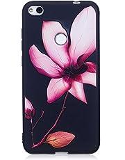 ISAKEN Compatibile con Huawei P8 Lite 2017 Custodia (No Strap) - Ultra Sottile Morbido TPU Cover Protezione Posteriore Case Antiurto Nero Bumper Soft Sollievo TPU Backcover, Rosa Loto