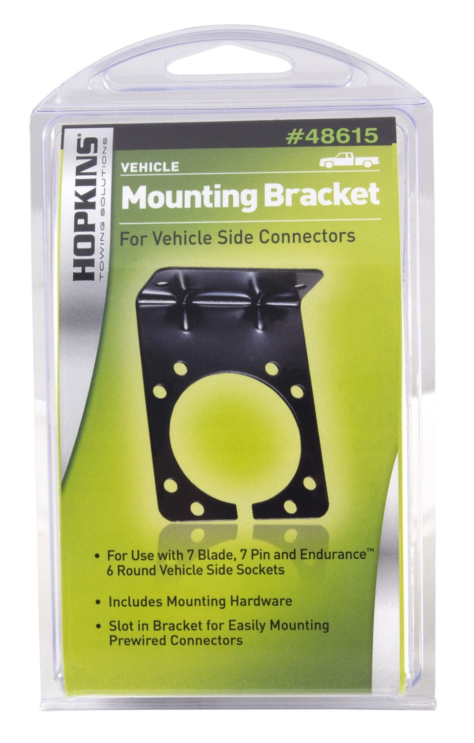 Hopkins 48615 7 Rv Blade And 6 Pole Round Mounting Connector Instructions Bracket Automotive