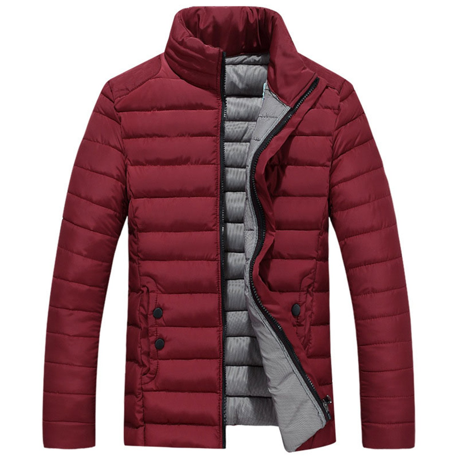 Sonjer Mens Parka Coat 4XL 5XL New Men Winter Jacket Down Cotton Padded Coat Stand Collar Quilted Jacket Male