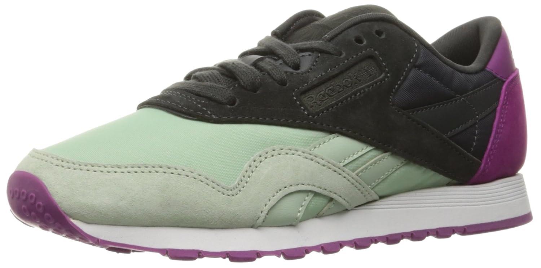 Acquista Reebok Women's CL Nylon CB Fashion Sneaker, Sage Mist/Coal/Fierce Fuchsia/White, 6.5 M US miglior prezzo offerta