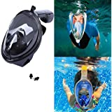 Aliyao Snorkel Mask Diving Swimming Easy Breath Full Face Mask Anti fog and Anti leak 180°Panoramic Technology for Children Adults with Ear Plug