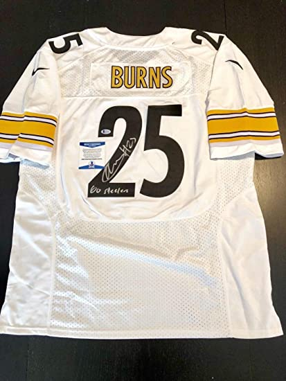 big sale 4c6a6 d2be5 Artie Burns Autographed Signed Pittsburgh Steelers Jersey ...